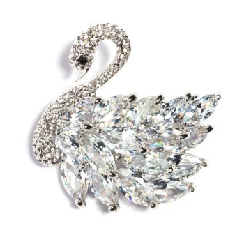 Broșa Lebada Blanca Silver