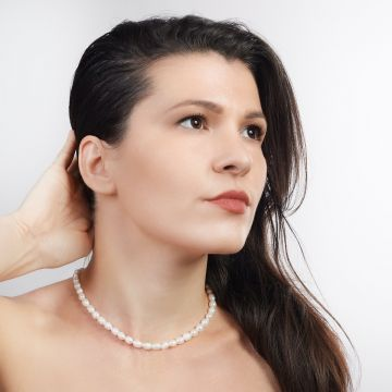 Colier perle naturale Blanche