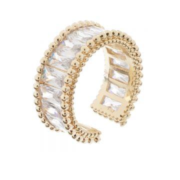 Inel reglabil Gia Gold Crystal