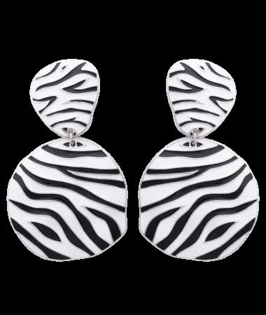 Cercei Zebra Silver